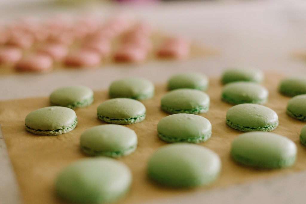 This recipe makes 15 macarons.