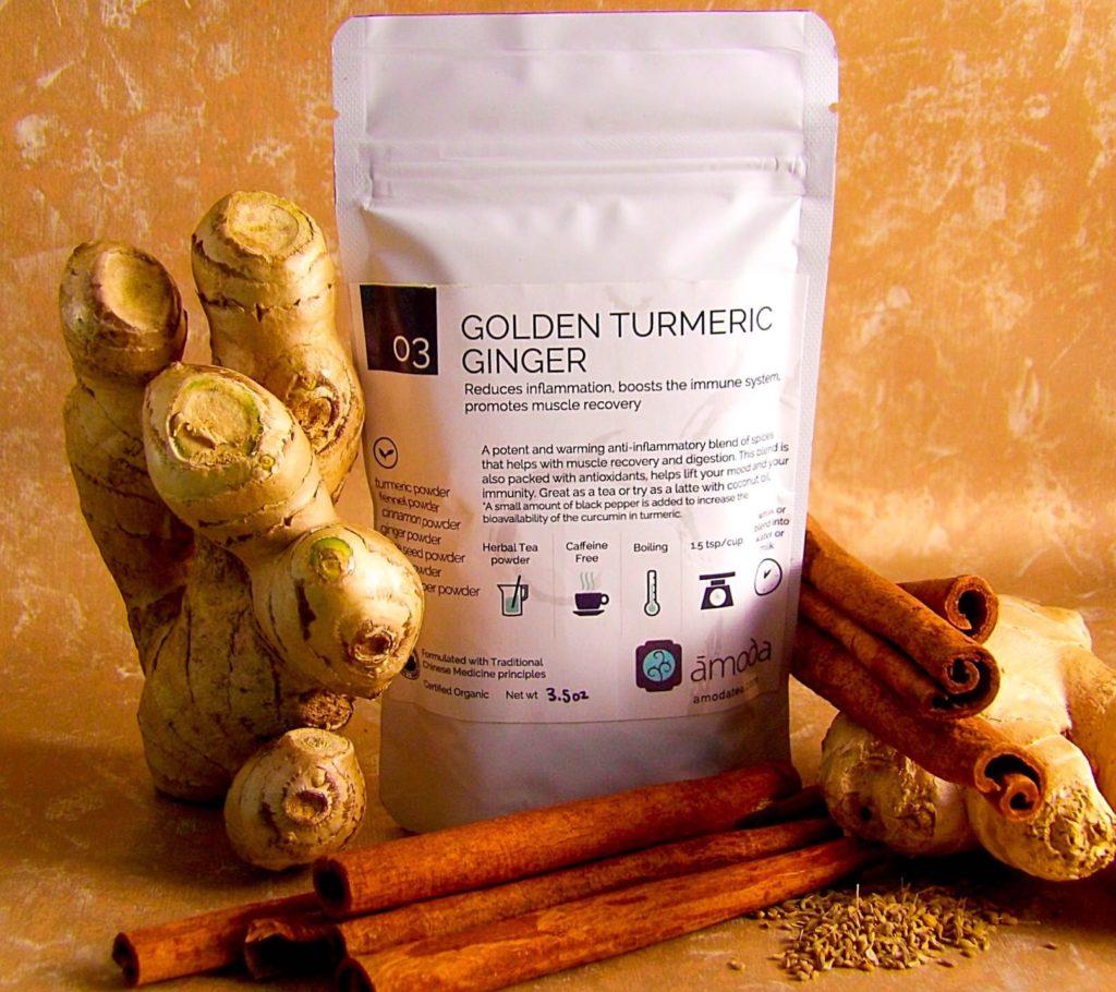 Tasty Golden Turmeric Ginger Tea