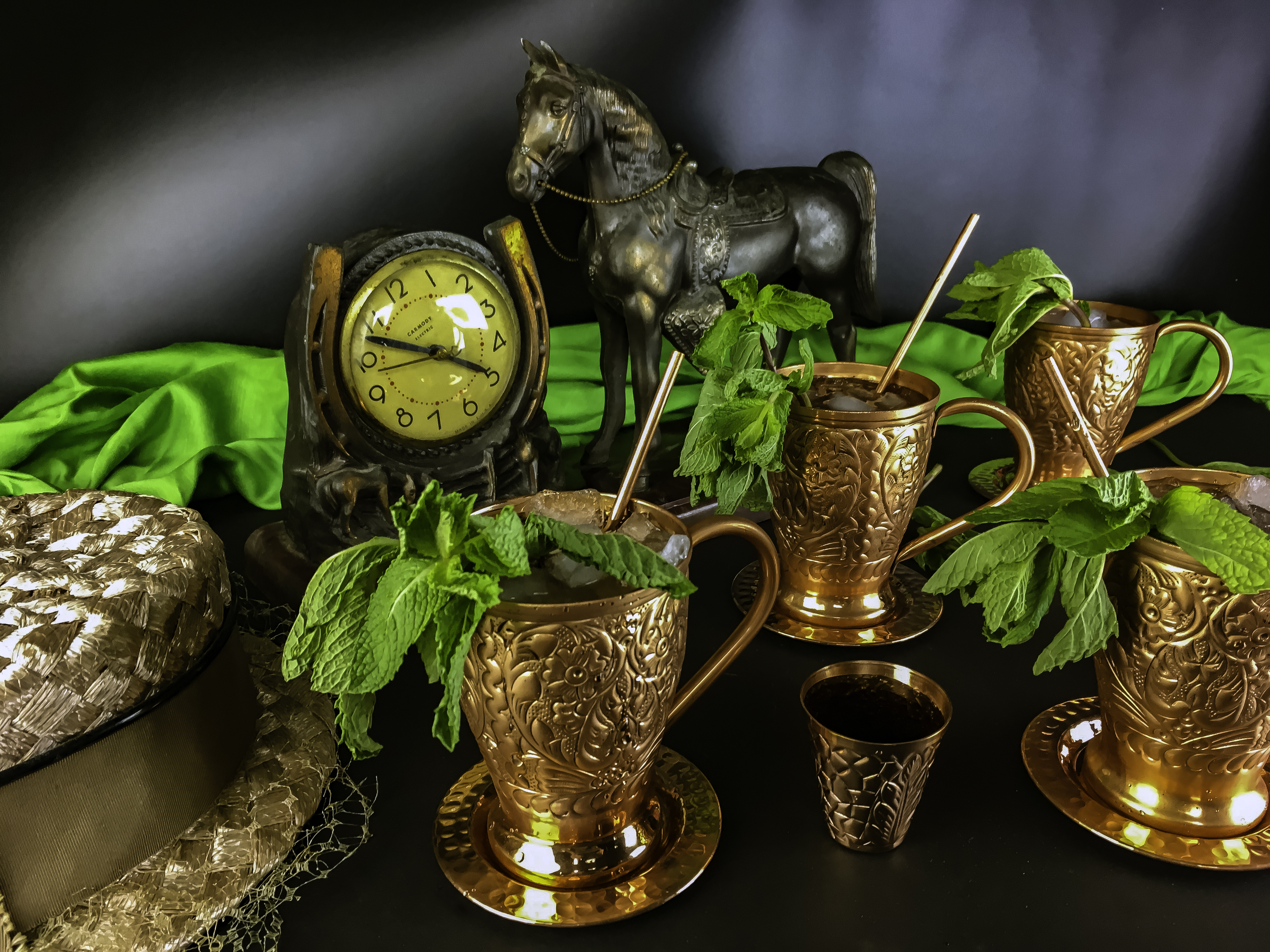 Kentucky Derby Recipe: A Less Sweet Mint Julep Recipe featuring Kamojo Moscow Mules