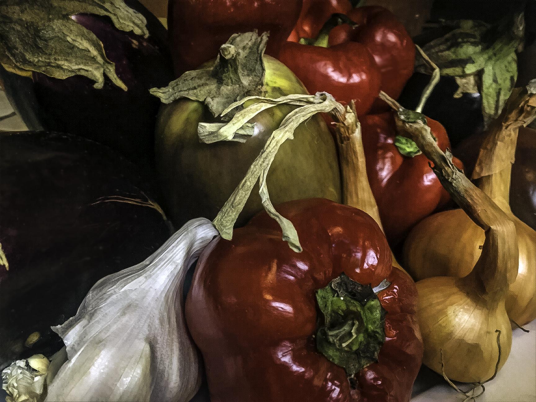 Heirloom veggies from the farmer's market